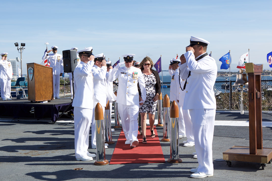 Event Photography at a Navy Military Retirement Ceremony on the USS Midway  by Donna Coleman in San Diego
